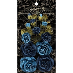 Graphic 45 - Staples - Rose Bouquet Bon Voyage & French Blue Flowers