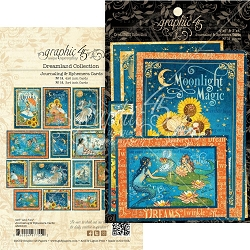 Graphic 45 - Dreamland Collection - Ephemera Journaling Cards