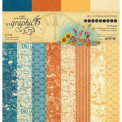 Graphic 45 - Dreamland Collection - 12x12 Patterns & Solids Paper Pad