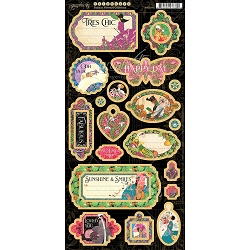 Graphic 45 - Fashion Forward Collection - Chipboards