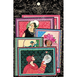 Graphic 45 - Fashion Forward Collection - Ephemera Journaling Cards