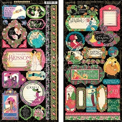 Graphic 45 - Fashion Forward Collection - Sticker Sheet