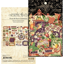 Graphic 45 - Fruit & Flora Collection - Die Cut Ephemera