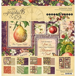 Graphic 45 - Fruit & Flora Collection - 12x12 Collection Pack