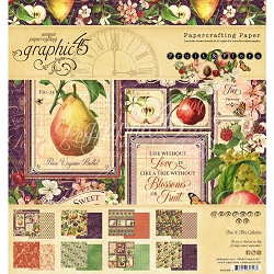 Graphic 45 - Fruit & Flora Collection - 8x8 Paper Pad