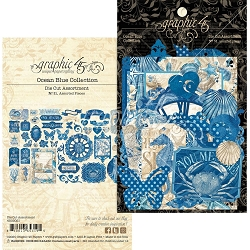 Graphic 45 - Ocean Blue Collection - Die Cut Ephemera