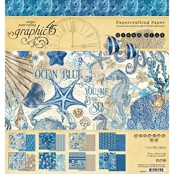 Graphic 45 - Ocean Blue Collection - 8x8 Paper Pad