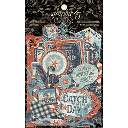 Graphic 45 - Catch of the Day Collection - Die Cut Ephemera