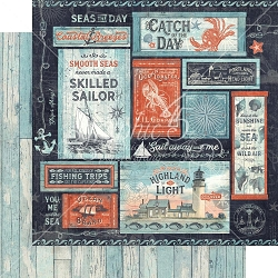 Graphic 45 - Catch of the Day Collection - Seas The Day 12