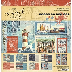 Graphic 45 - Catch of the Day Collection - 12x12 Collection Pack