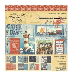 Graphic 45 - Catch of the Day Collection - 8x8 Paper Pad
