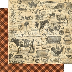 Graphic 45 - Farmhouse Collection - Gather Together 12