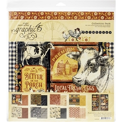 Graphic 45 - Farmhouse Collection - 12x12 Collection Pack