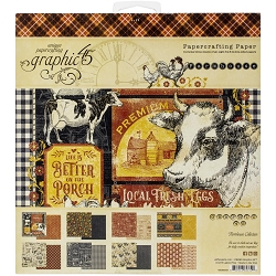 Graphic 45 - Farmhouse Collection - 8x8 Paper Pad