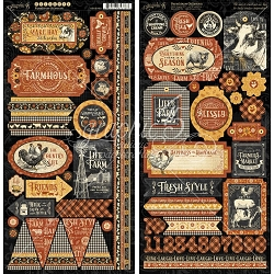 Graphic 45 - Farmhouse Collection - Sticker Sheet