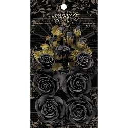 Graphic 45 - Staples - Rose Bouquet Photogenic Black Flowers
