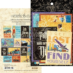 Graphic 45 - Life's A Journey Collection - Ephemera Journaling Cards
