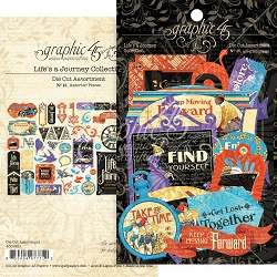 Graphic 45 - Life's A Journey Collection - Ephemera Die Cuts