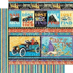 Graphic 45 - Life's A Journey Collection - Get Lost 12