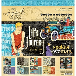Graphic 45 - Life's A Journey Collection - 12x12 Collection Pack