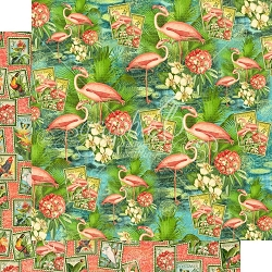 Graphic 45 - Lost in Paradise Collection - Flamingo Lagoon 12