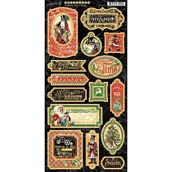 Graphic 45 - Christmas Time Collection - Chipboard
