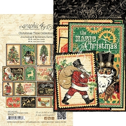 Graphic 45 - Christmas Time Collection - Ephemera Cards