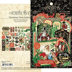 Graphic 45 - Christmas Time Collection - Die Cut Ephemera