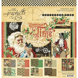 Graphic 45 - Christmas Time Collection - 12x12 Collection Pack