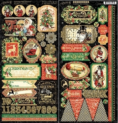 Graphic 45 - Christmas Time Collection - Sticker Sheet