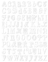 Hambly studios rub ons - Vintage Letters White