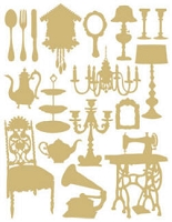 Hambly studios rub ons - Silhouettes Gold