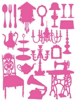 Hambly studios rub ons - Silhouettes Pink