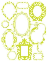 Hambly studios rub ons - Antique Frames Lime