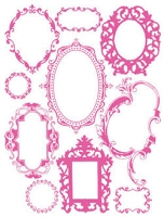 Hambly studios rub ons - Antique Frames Pink
