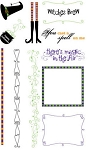 Hampton Art-Flip Flop Clear Stamp Set-Witches Brew