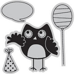 Hampton Art-Cling Stamp Set-I Cling Party Owl