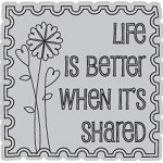 Hampton Art-Cling Stamp Set-I Cling Life is Shared