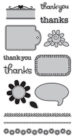 Hampton Art - Doodlebug Design  - Cling Mounted Stamp - Thankful :)