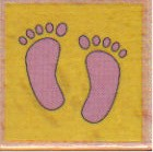 Hampton Art - Studio G - Wood Mounted Stamp - Feet