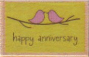 Hampton Art - Studio G - Wood Mounted Stamp - Happy Anniversary