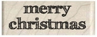 Hampton Art - Wood Mounted Stamp by Gloria Stengel Designs - Merry Christmas