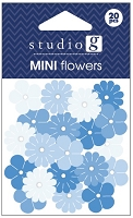 Hampton Arts - Studio G - Mini Flowers - Blue