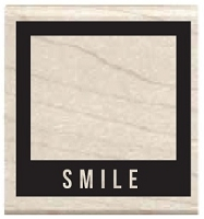 Hampton Arts - Studio G - Wood Mounted Stamp - Smile