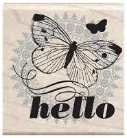 Hampton Arts - Studio G - Wood Mounted Stamp - Hello