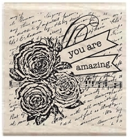 Hampton Arts - Studio G - Wood Mounted Stamp - You Are Amazing