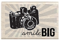 Hampton Arts - Studio G - Wood Mounted Stamp - Smile Big