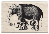 Hampton Arts - Studio G - Wood Mounted Stamp - Think Big