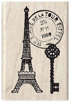 Hampton Arts - Studio G - Wood Mounted Stamp - Eiffel Tower