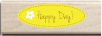 Hampton Arts - Studio G - Wood Mounted Stamp - Happy Day!